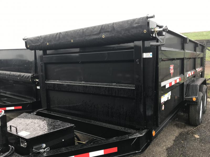 2019 PJ Trailers 16X83 Low Pro High Side Dump (DM) Dump Trailer