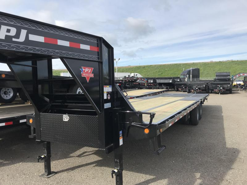 2019 PJ Trailers 32' Low-Pro with Hydraulic Dove (LY) Flatbed Trailer