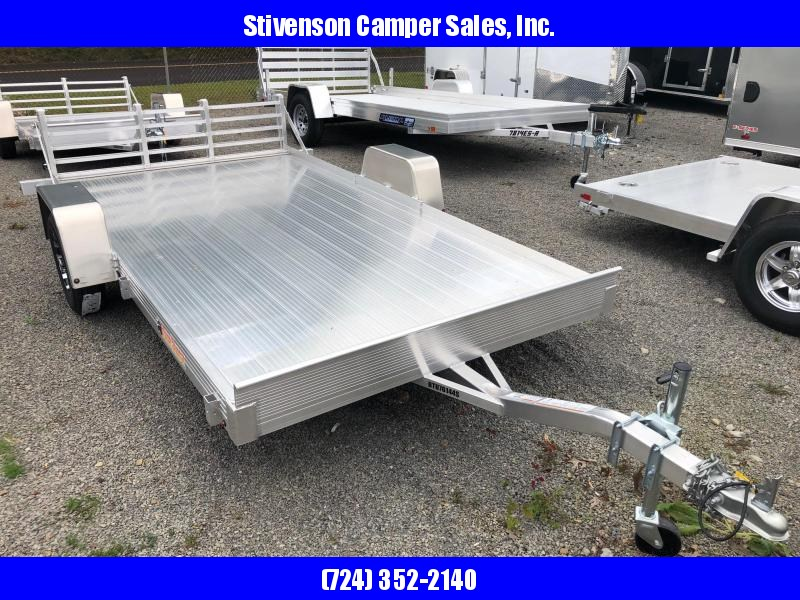 "2018 Bear Track Model BTU76144S (6'3"" x 10') All Aluminum Single Axle Utility Trailer w/ bi-fold tailgate"