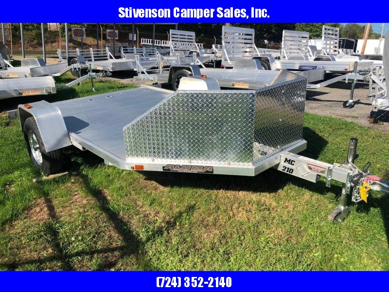 "2017 Aluma (6'5"" x 11'5"") Model MC210 Single Axle Motorcycle Trailer"