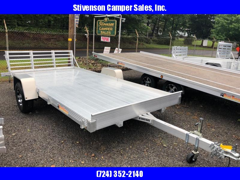 "2017 Bear Track Model BTU80168S (6'6"" x 10') Single Axle w/ Bi-fold Ramp Utility Trailer"