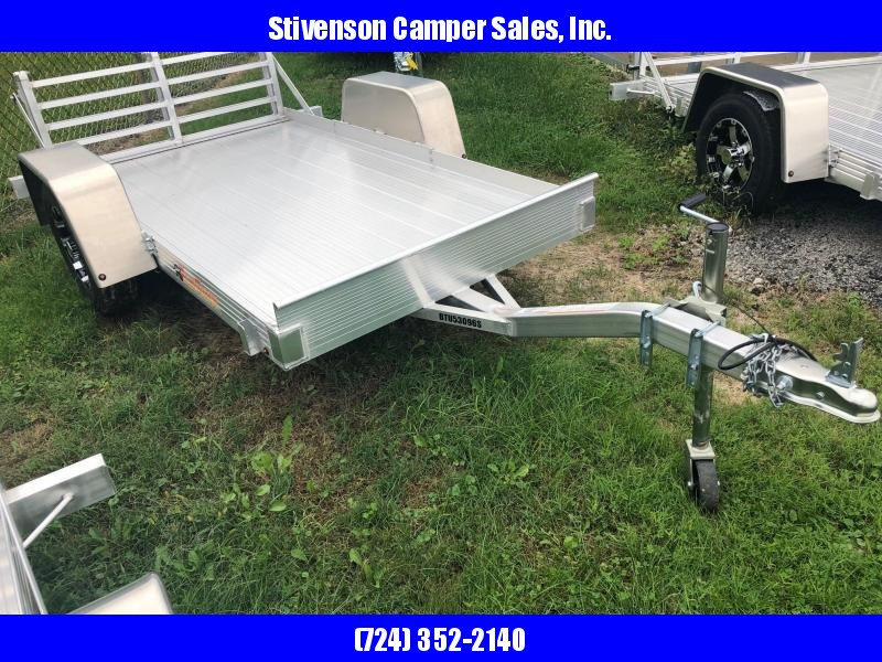"2017 Bear Track Model BTU53965 (4'4"" X 8') Single Axle w/ Bi-fold Ramp Utility Trailer"