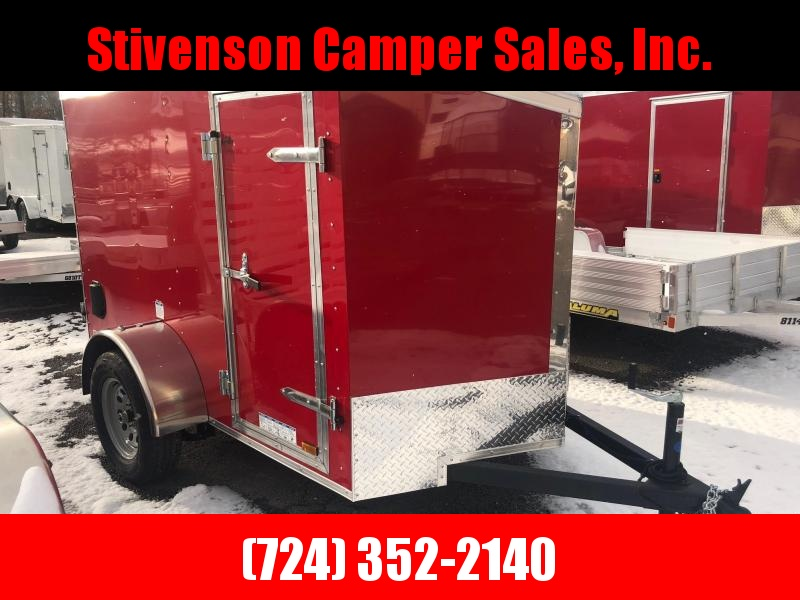 2019 Cargo Mate 5X8 RED Enclosed Cargo Trailer
