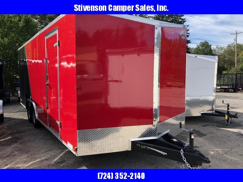 "2019 Cargo Mate (8'5"" x 22') Enclosed Tandem Axle Red & Black Cargo Trailer"