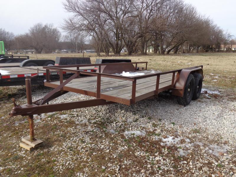 """USED 1988 Hull 76"""" x 14' Utility Trailer"""