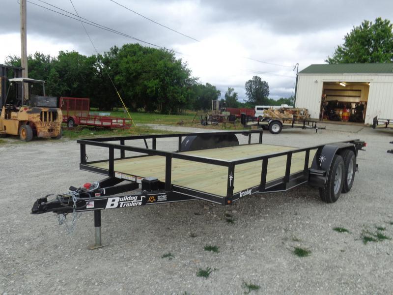 Bulldog 82 x 16' Tandem Axle Black Utility Trailer