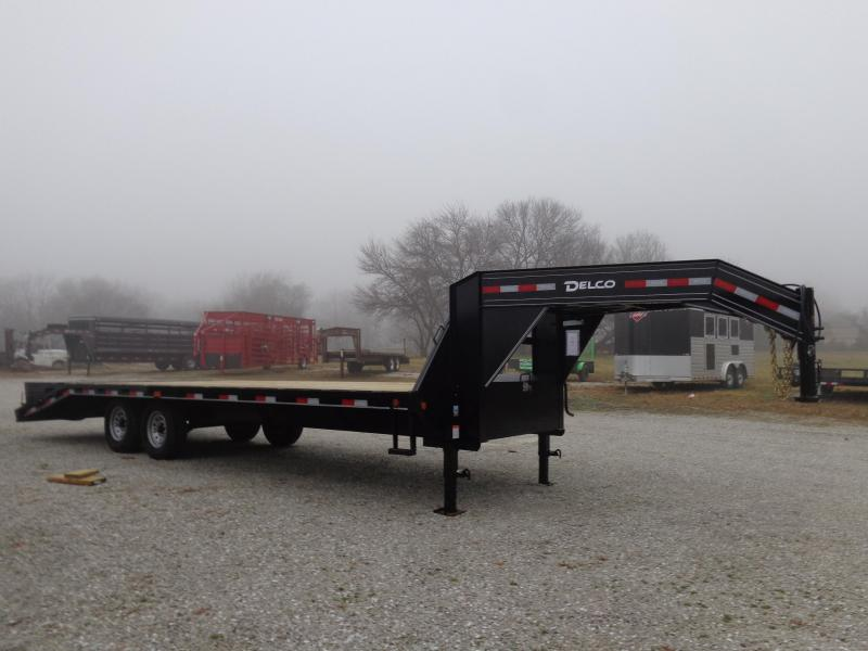 Delco 102 x 20'+5' Gooseneck 14000 Deckover Equipment Trailer W/ MAX Ramps in Lowell, AR
