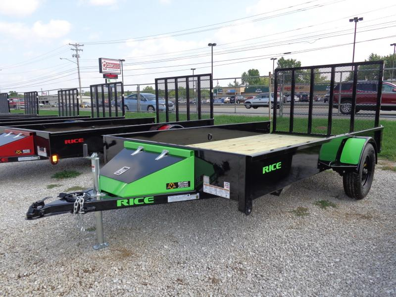 "Rice 76"" x 12' Bumper Pull Stealth Black with NEON Green-Out"