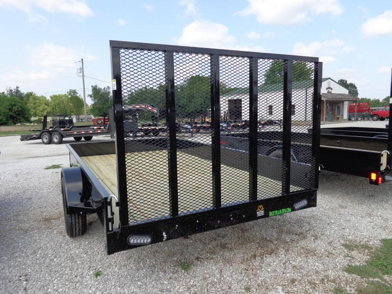 """Rice 76"""" x 12' Bumper Pull Stealth Black with NEON Green-Out"""