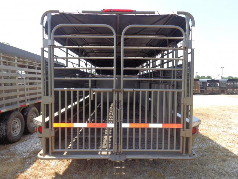 USED 2016 W-W 20' x 6'8 Arizona Beige with Black Tarp Gooseneck Livestock Trailer