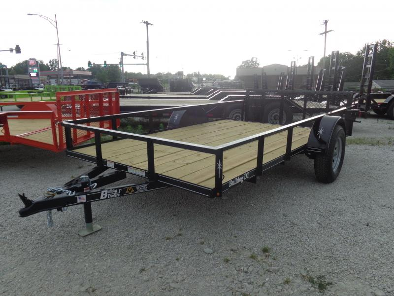 Bulldog 76 x 10+2 Dovetail Black Utility Trailer