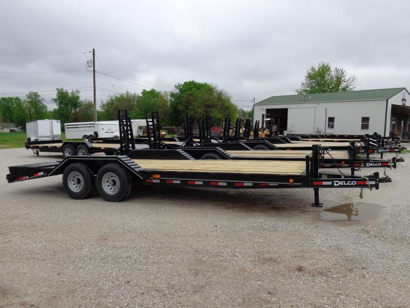 Delco 102 x 18'+4' Dovetail Bumper Pull 14000# Flatbed Trailer in Lowell, AR