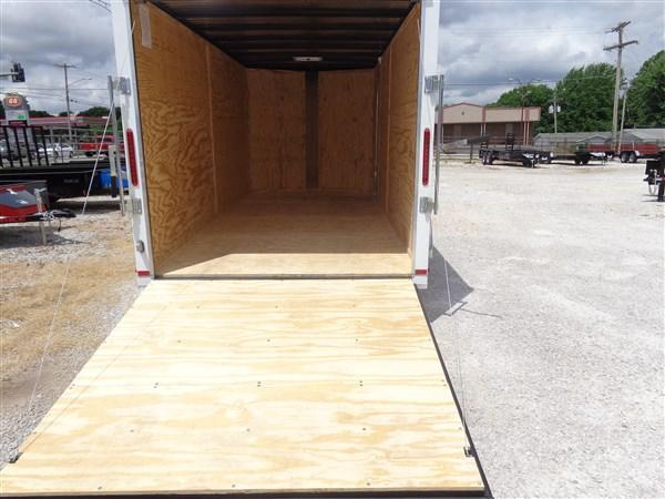Box Cargo 7' x 16' White Bumper Pull Enclosed Cargo Trailer