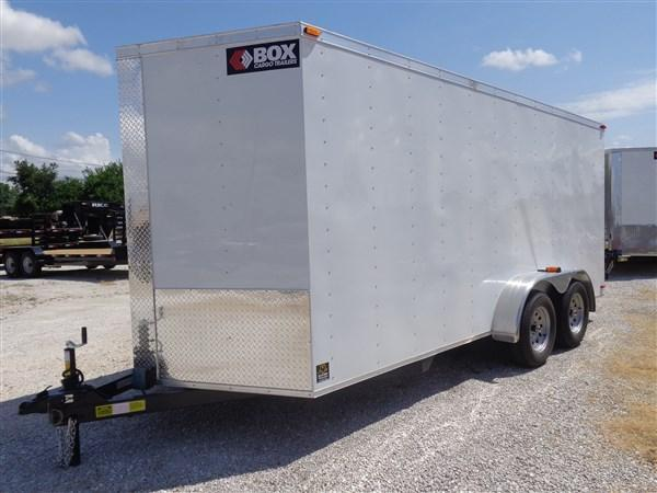 Box Cargo 7' x 16' Bumper Pull Enclosed Box Cargo Trailer