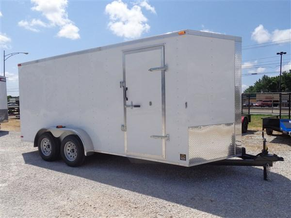 Box Cargo 7' x 16' White Bumper Pull Enclosed Cargo Trailer in Ashburn, VA