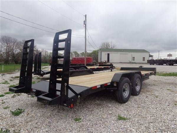 "Rice 82"" x 20'+2' 14000# Bumper Pull Heavy Duty Flatbed"