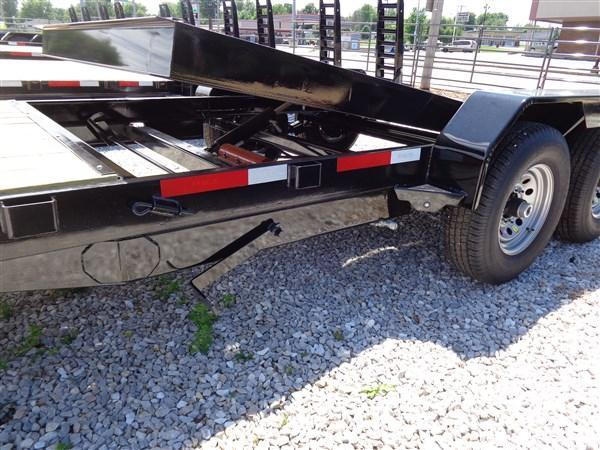 "Rice 82"" x 16'+4' Bumper Pull 14000# Partial Tilt Heavy Duty Flatbed"