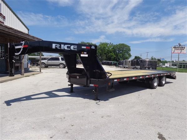 """Rice 20'+5' x 102"""" 22000# Gooseneck Low Pro Deckover"""