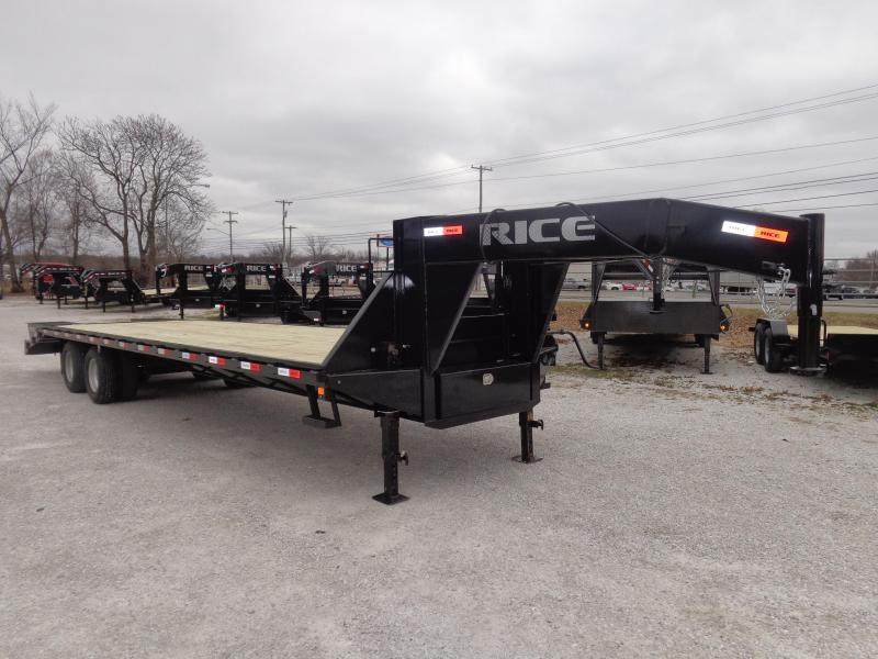 Rice 102 x 27'+5' 22000# Gooseneck Deckover Tandem Dual W/ 2 FoldOver Ramps & Center Pop-Up in Lowell, AR