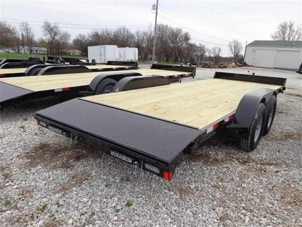 """Rice 82"""" x 18'+2' Bumper Pull 9900# Upgraded Flatbed"""