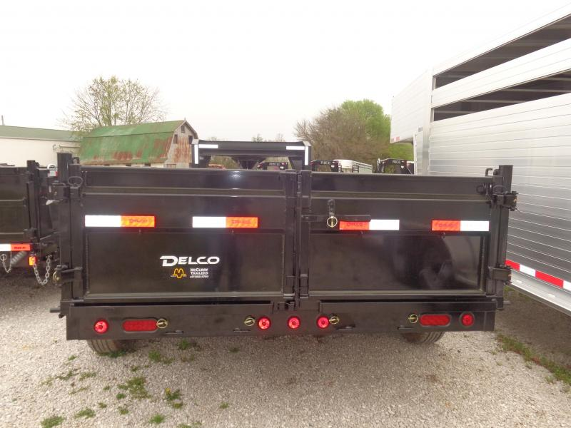 "Delco 83"" x 16' Low-Pro Gooseneck Dump Trailer"