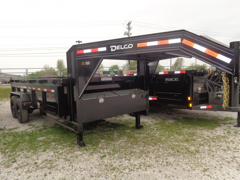 "Delco 83"" x 16' Low-Pro Gooseneck Dump Trailer in Ashburn, VA"