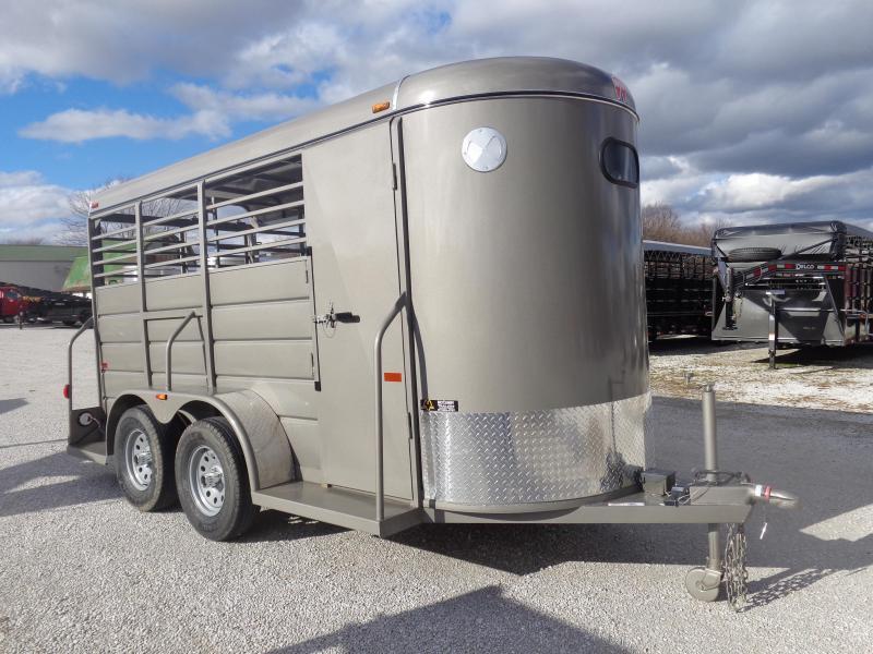 2019 W-W 14' x 5' Bumper Pull Livestock Trailer