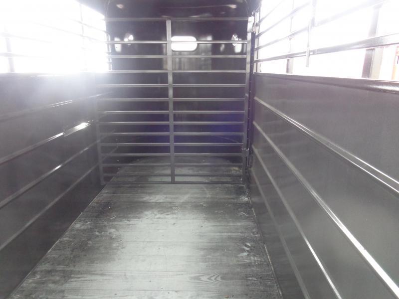 W-W 14' x 5'  Dk Gray Bumper Pull Livestock Trailer