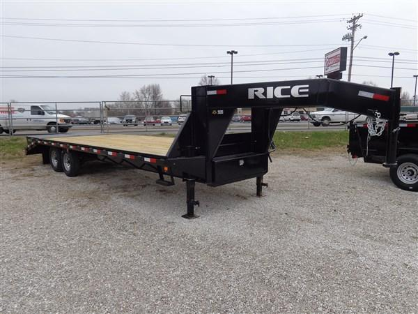 "Rice 102"" x  20'+5' 14000# Gooseneck Deckover MAX RAMPS in Ashburn, VA"