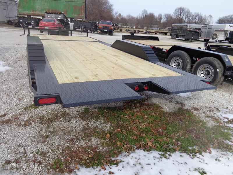 "Delco 102"" x 16'+6' Dovetail Bumper Pull 14000# POWER Partial Tilt Flatbed"