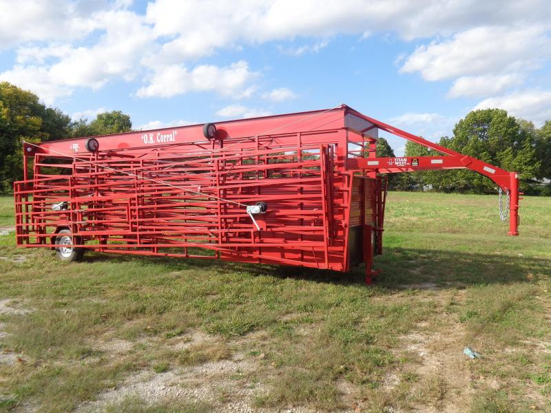 O.K. Corral (Original) RED INCLUDES 4 FOLD DOWN WHEELS & 2 MAN GATES!! AVAILABLE IN STOCK