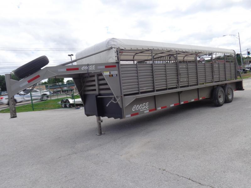 USED 2015 Coose 24' x 6'8 Gooseneck Livestock Trailer in Ashburn, VA