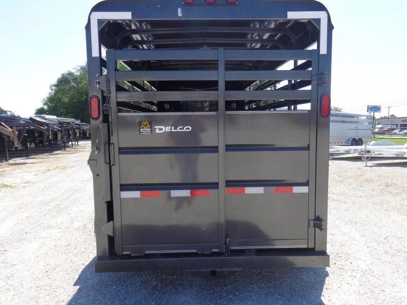 Delco 16' x 6' Dark Gray Powder Coated Bumper Pull Livestock Trailer