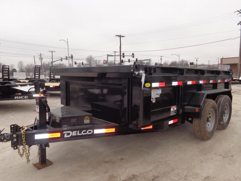 """Delco 83"""" x 12' Low-Pro Bumper Pull Dump Trailer"""