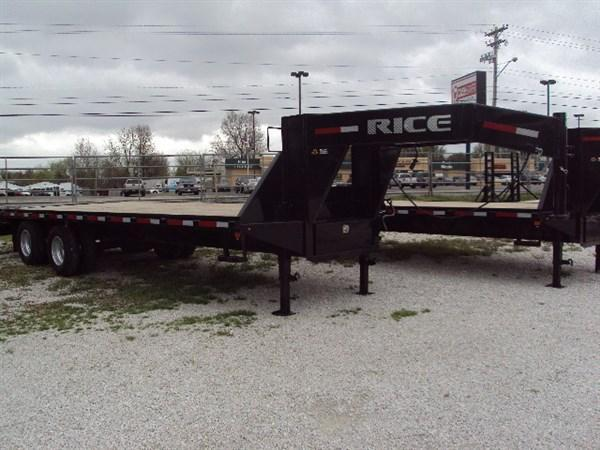 Rice 102 x 20'+5' 22000# Gooseneck Deckover W/ MAX RAMPS in Lowell, AR
