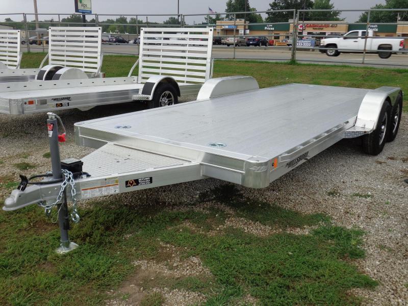 """Hillsboro 20' x 6'10"""" Aluminum Bumper Pull Car Hauler Flatbed Trailer"""