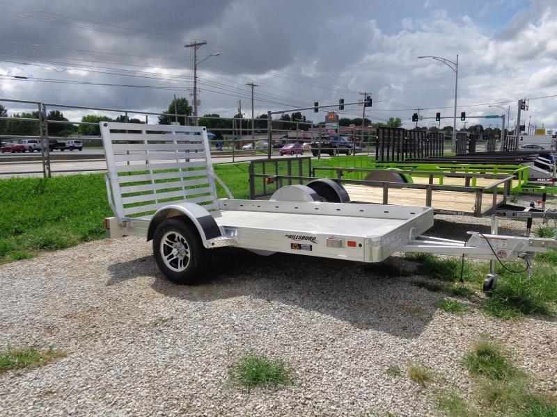 "Hillsboro 70"" x10' Aluminum Bumper Pull Utility Trailer"
