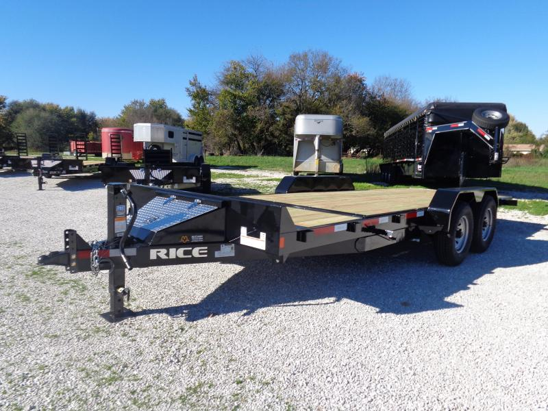 Rice 16'+6' Bumper Pull 14000# Partial Tilt Heavy Duty Flatbed