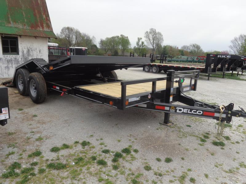 Delco 102 x 16'+4' Bumper Pull 14000# Partial Tilt FULL WIDE FLOOR Flatbed Trailer in Lowell, AR