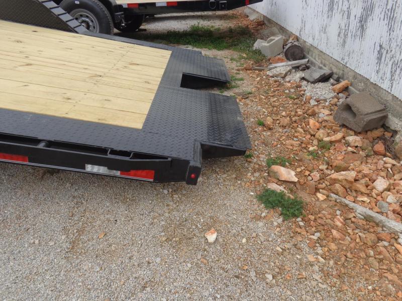 "Delco 102"" x 16'+4' Bumper Pull 14000# Partial Tilt FULL WIDE FLOOR Flatbed Trailer"