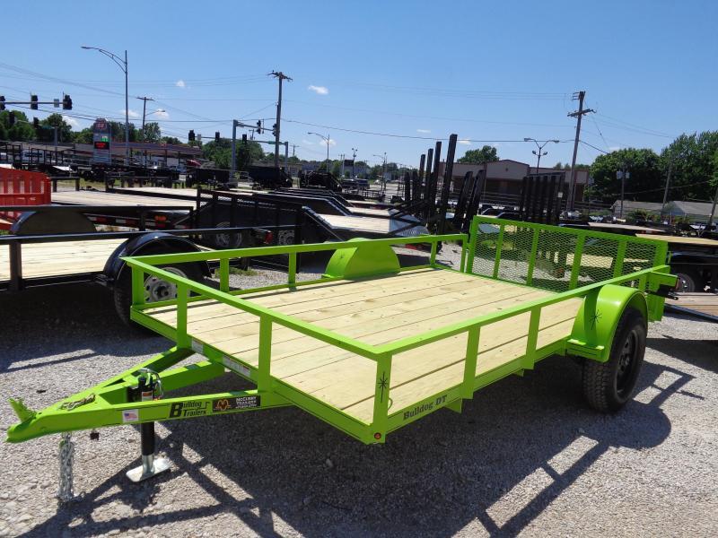 Bulldog 76 x 10+2 Dovetail Lime Green Utility Trailer