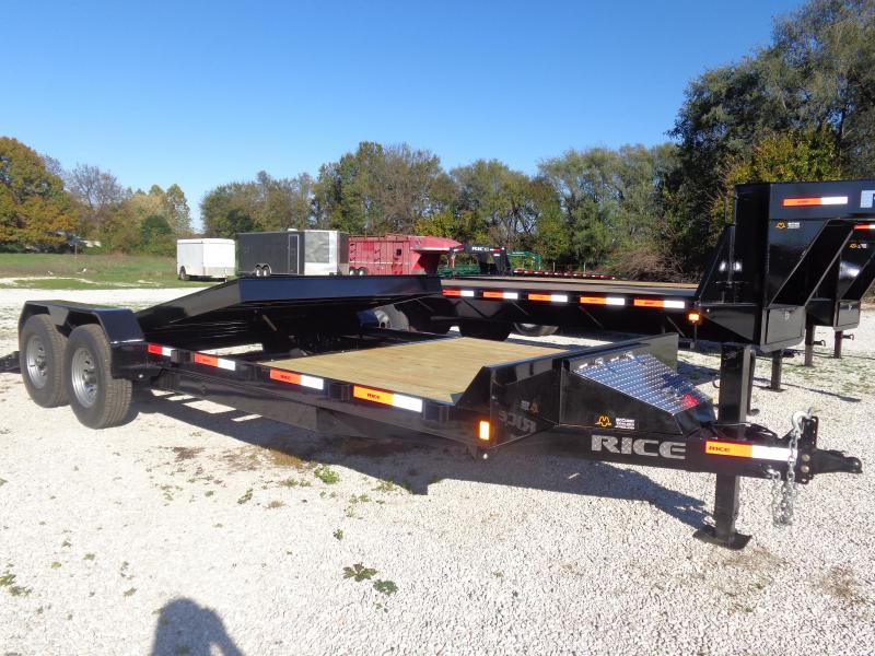 Rice 82 x 16'+4' Bumper Pull 14000# Partial Tilt Heavy Duty Flatbed in Lowell, AR