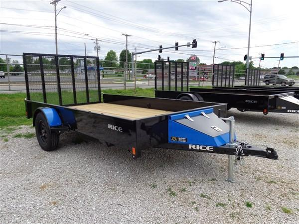 "Rice 76"" x 12' Bumper Pull Stealth Black w/ Blue-Out"