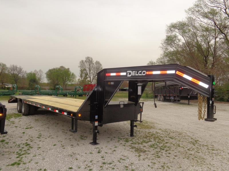Delco 102 x 27'+5' Gooseneck 20000 Deckover Monster Ramps Equipment Trailer in Lowell, AR