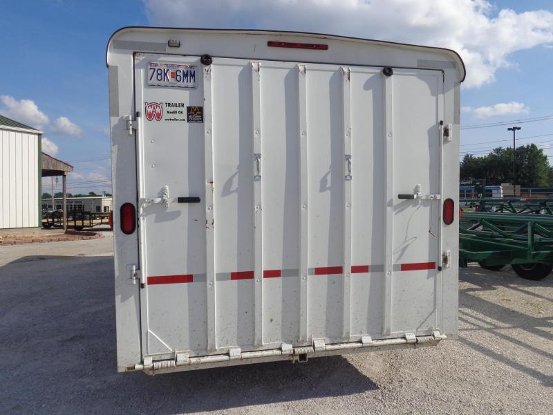 USED 2016 W-W 20' x 8' Gooseneck Enclosed Cargo Trailer