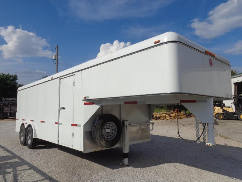 USED 2016 W-W 20' x 8' Gooseneck Enclosed Cargo Trailer
