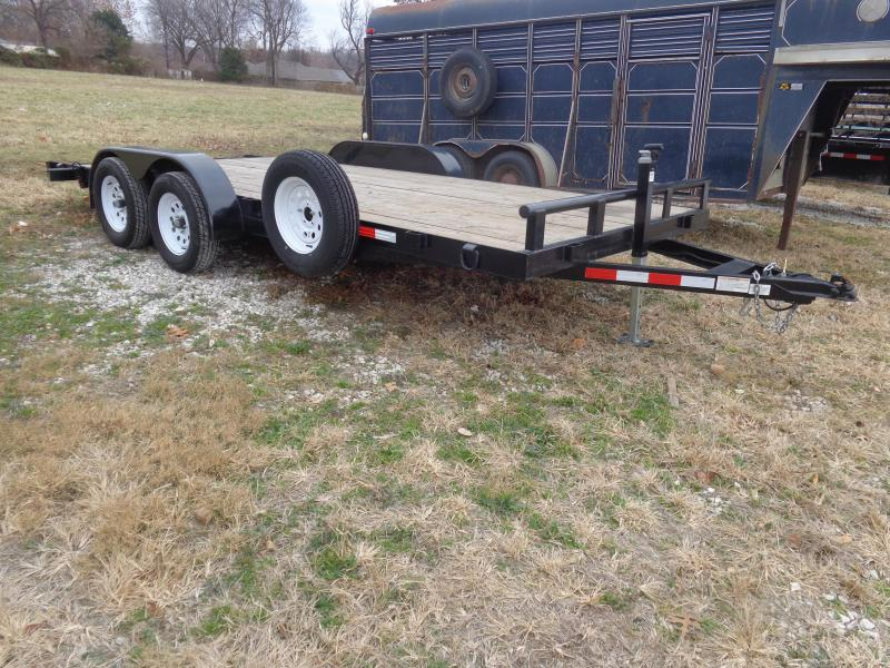 USED 2018 STAG 16'+2' Flatbed Trailer
