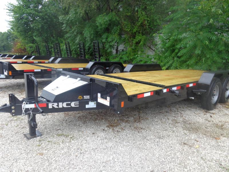 Rice 82 x 16'+4' Bumper Pull 14000# Partial Tilt Heavy Duty Flatbed in Bella Vista, AR