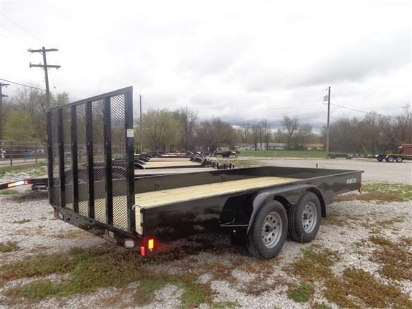 "Rice 76"" x 16' Bumper Pull Tandem Axle Stealth"