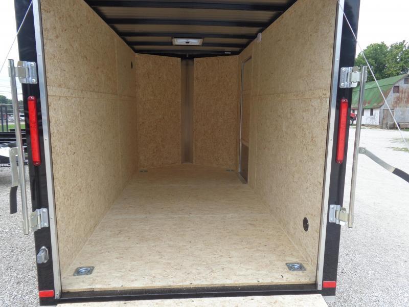 Box Cargo 6' x 12' 1/2 Diamond Ice & 1/2 Black Bumper Pull Enclosed Cargo Trailer